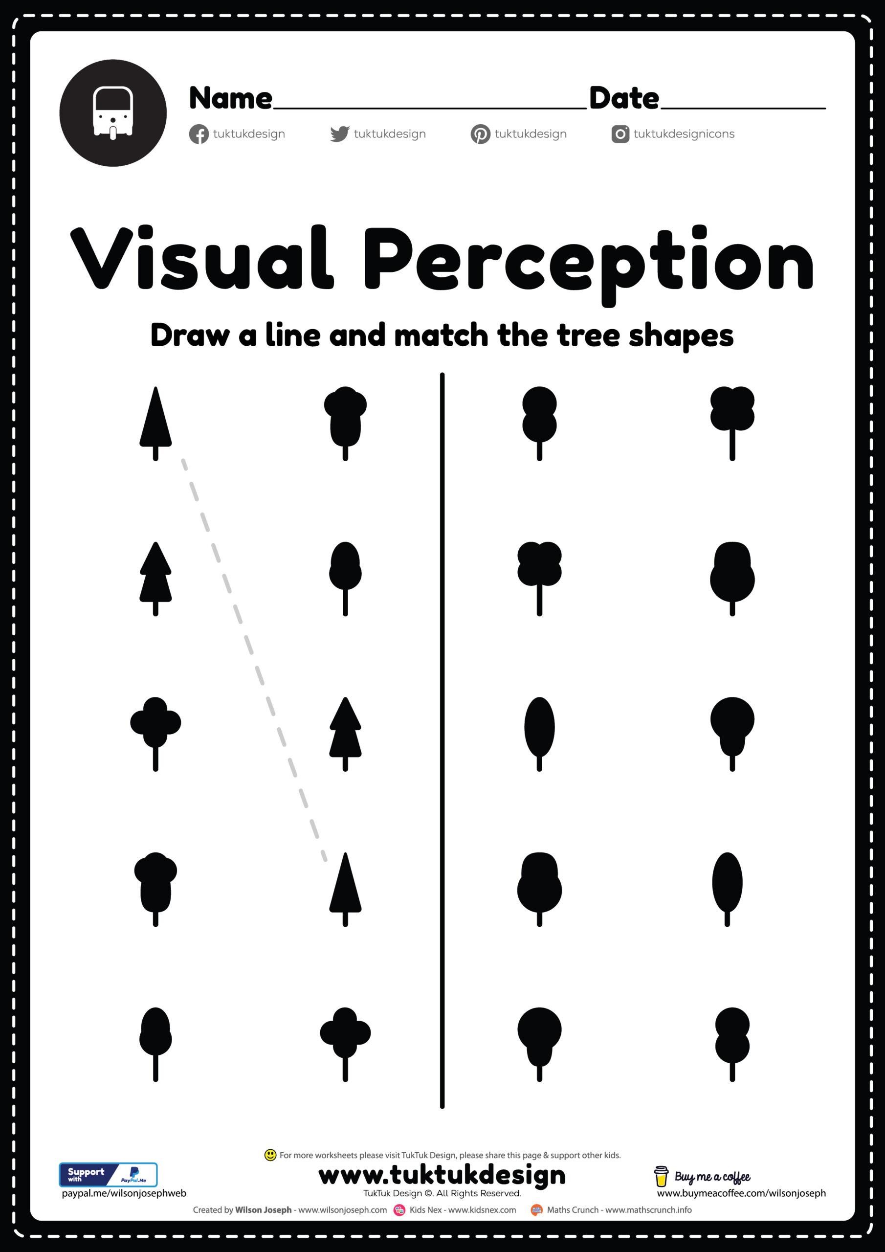 Visual Perceptual Skills Worksheet Free Printable Pdf